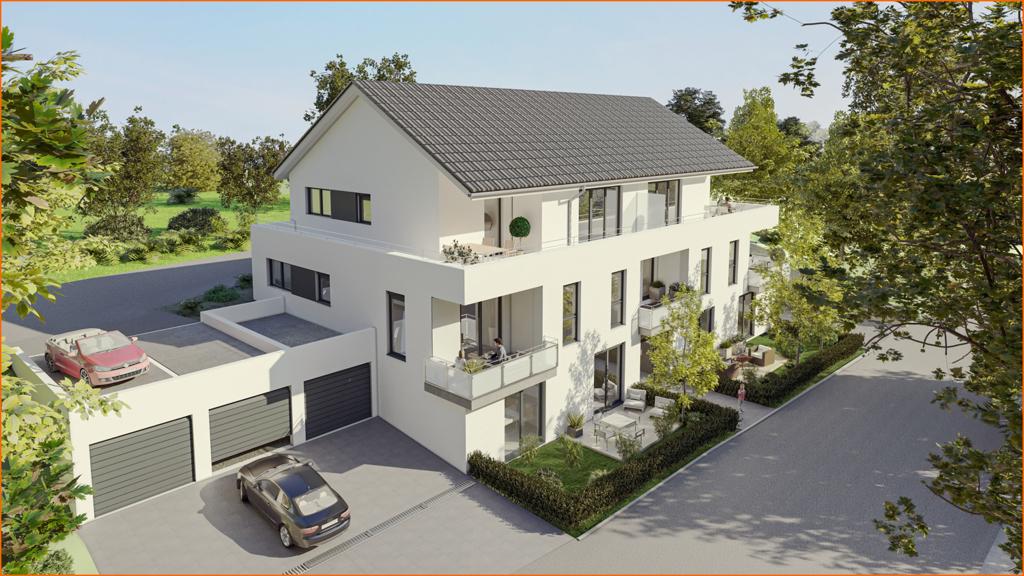 Haus- und Garagenansicht