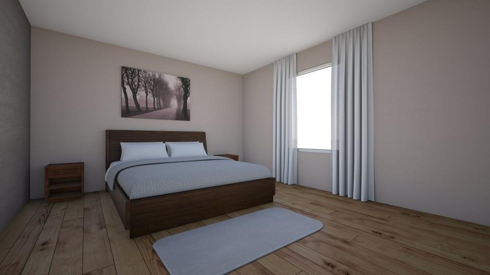 Schlafzimmer OG visualisiert