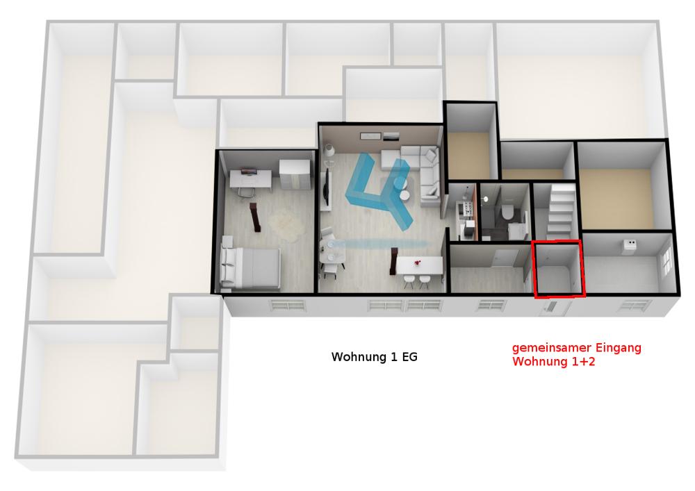 Grundriss Wohnung 1 EG -unmaßstäblich-