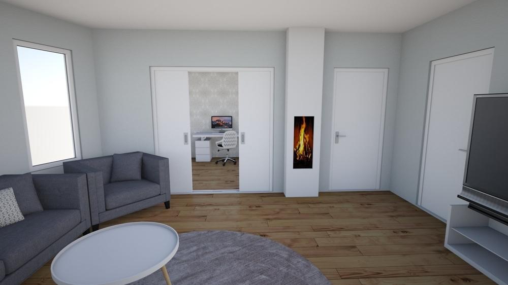 Wohnzimmerbeispiel OG visualisiert