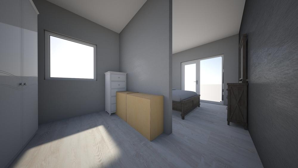 Visualisierung Akleidebereich/Schlafzimmer