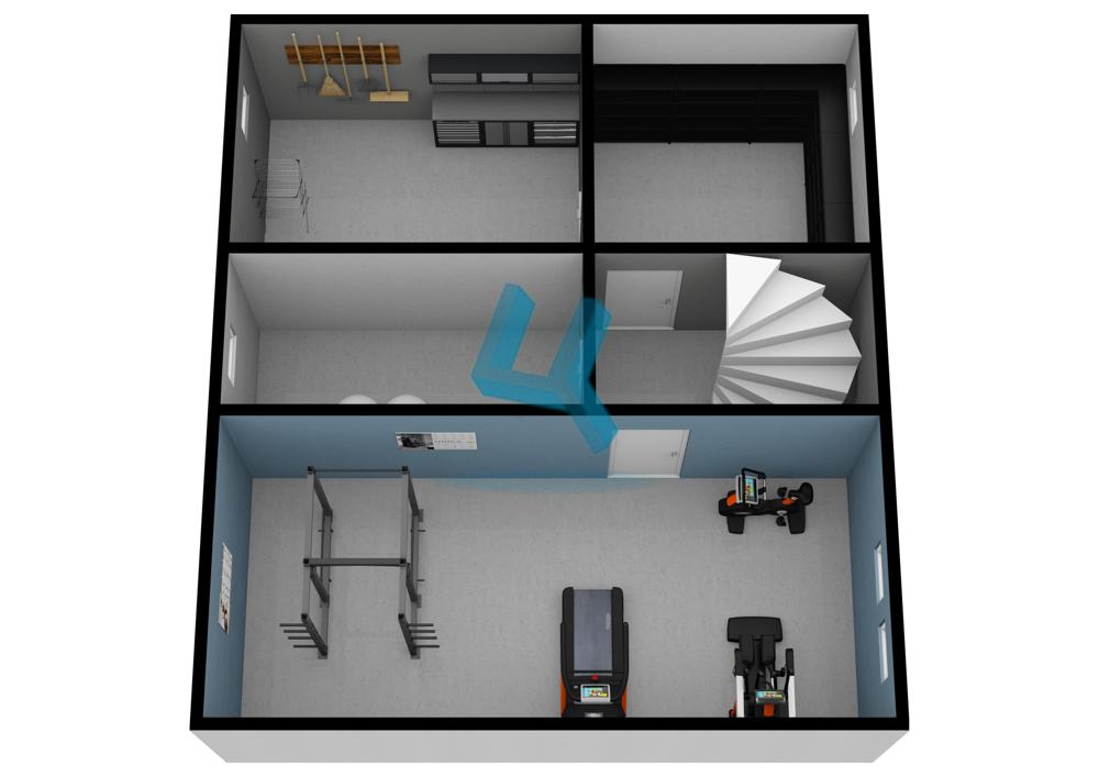 3D Grundriss_Keller visualisiert