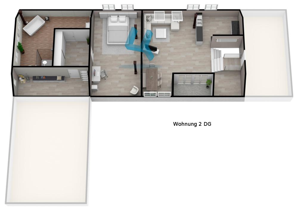 Grundriss Wohnung 2 DG -unmaßstäblich-
