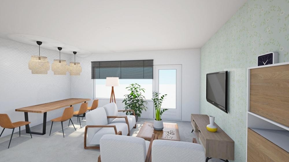 Wohn-Essbereich visualisiert