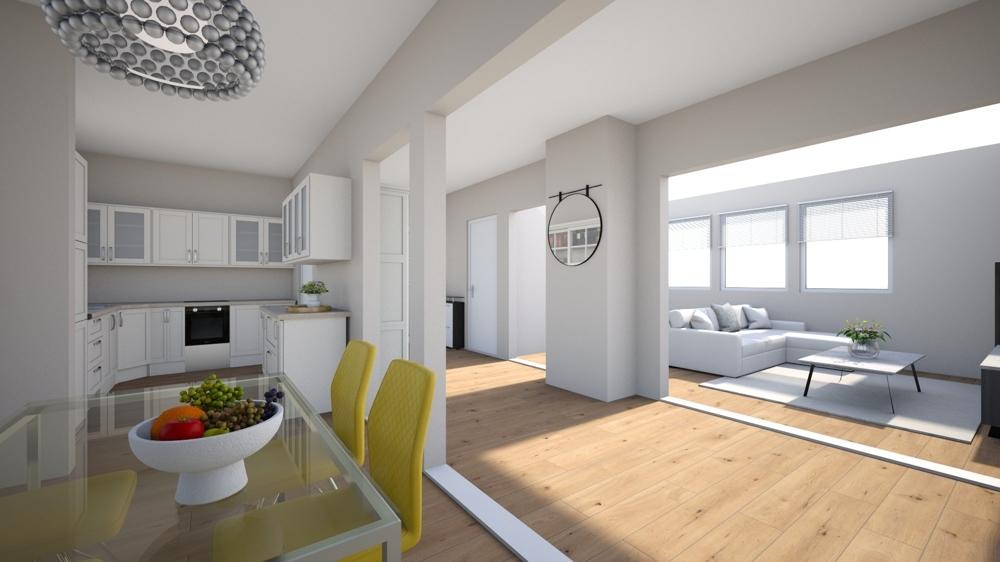 Visualisierung_Wohn-Küchenbereich